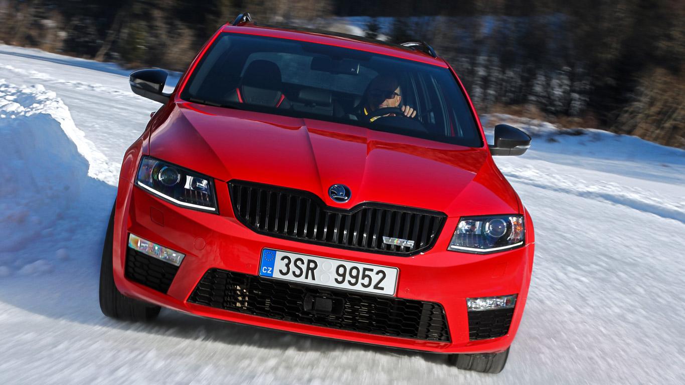 Skoda Octavia 4x4 vRS: Two-Minute Road Test winter special