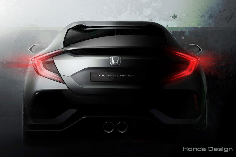 New Honda Civic teased ahead of Geneva Motor Show debut