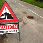 Potholes warning