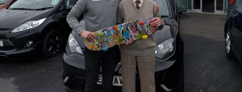 93-year-old man trades skateboard in for MG3