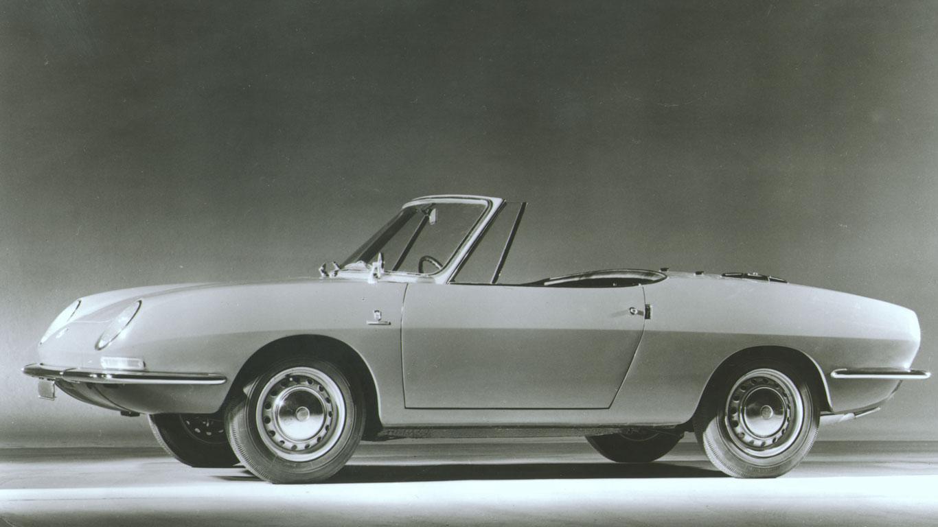 1969 Fiat 850 Spider: 219% growth