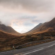 empty road Scotland