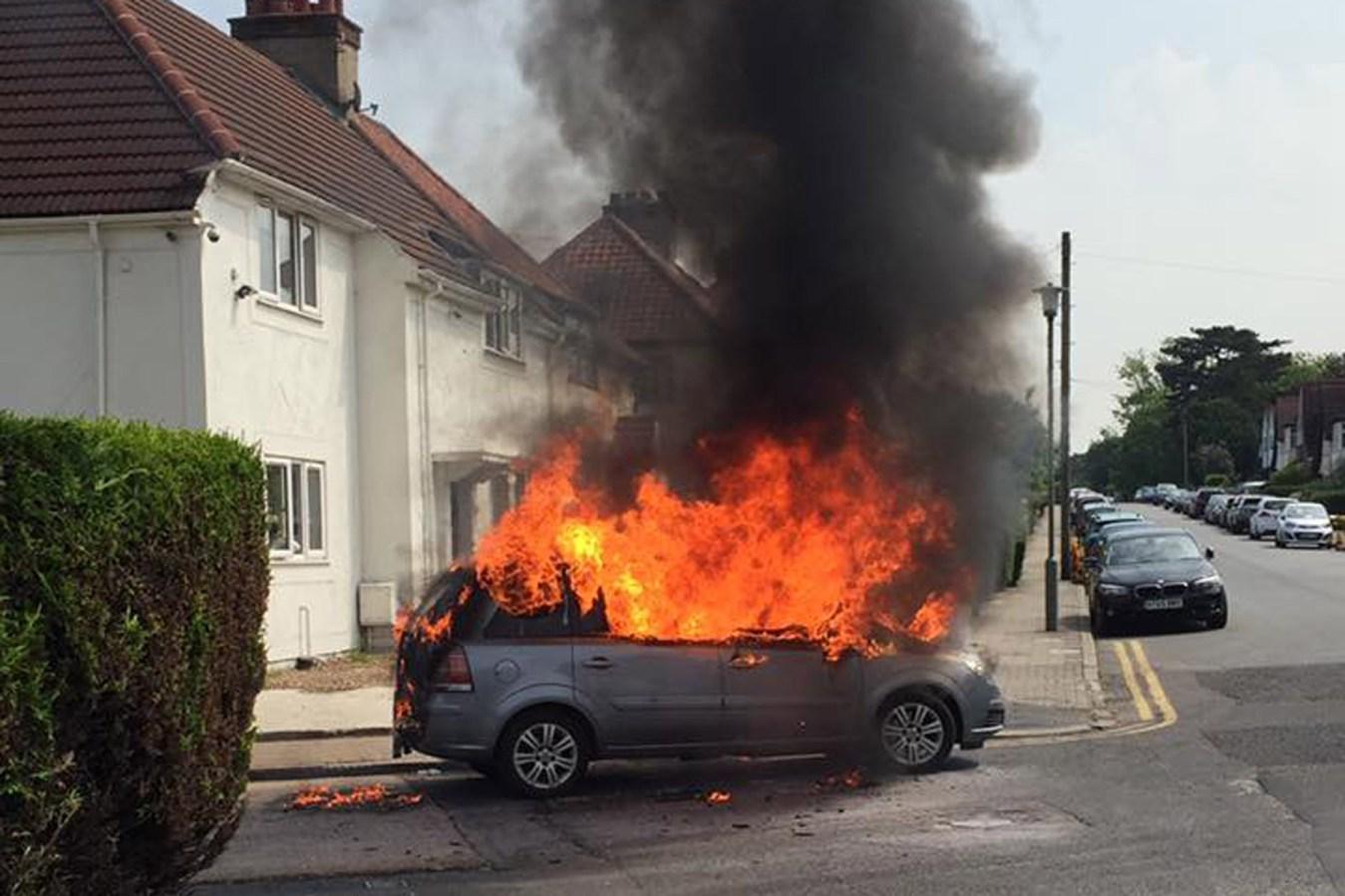 London Fire Brigade 'still getting' Vauxhall Zafira fires