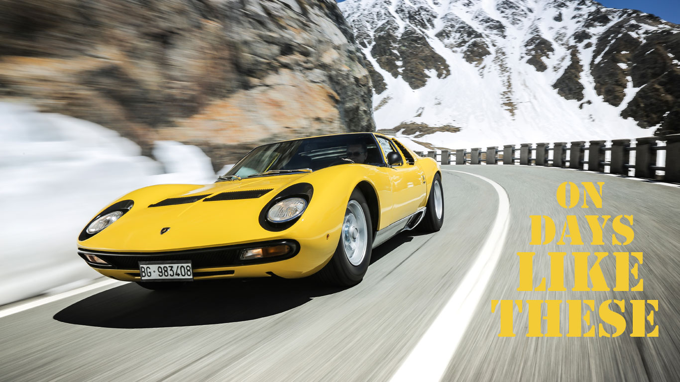 On Days Like These 50 Years Of The Lamborghini Miura Motoring