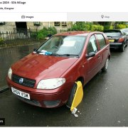 £500 Fiat Punto for sale on Gumtree – but you'll have to remove the clamp yourself