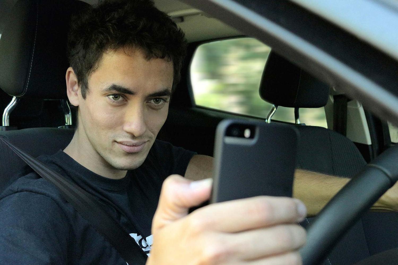 Motoring selfie