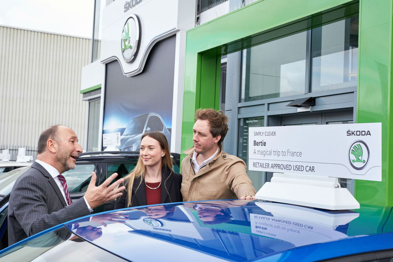 This Skoda dealer will tell you your car's name and personality traits