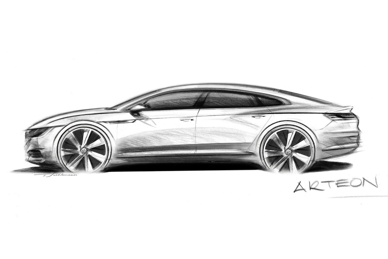 Volkswagen Arteon teased ahead of Geneva Motor Show debut