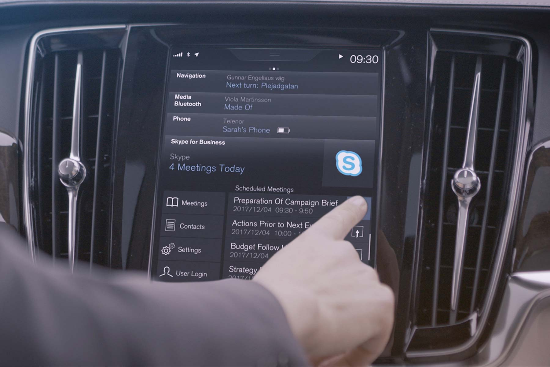 Using Skype from a Volvo