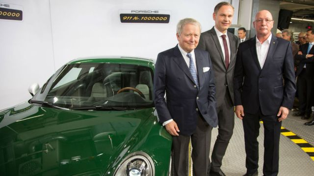 Porsche builds its one-millionth 911