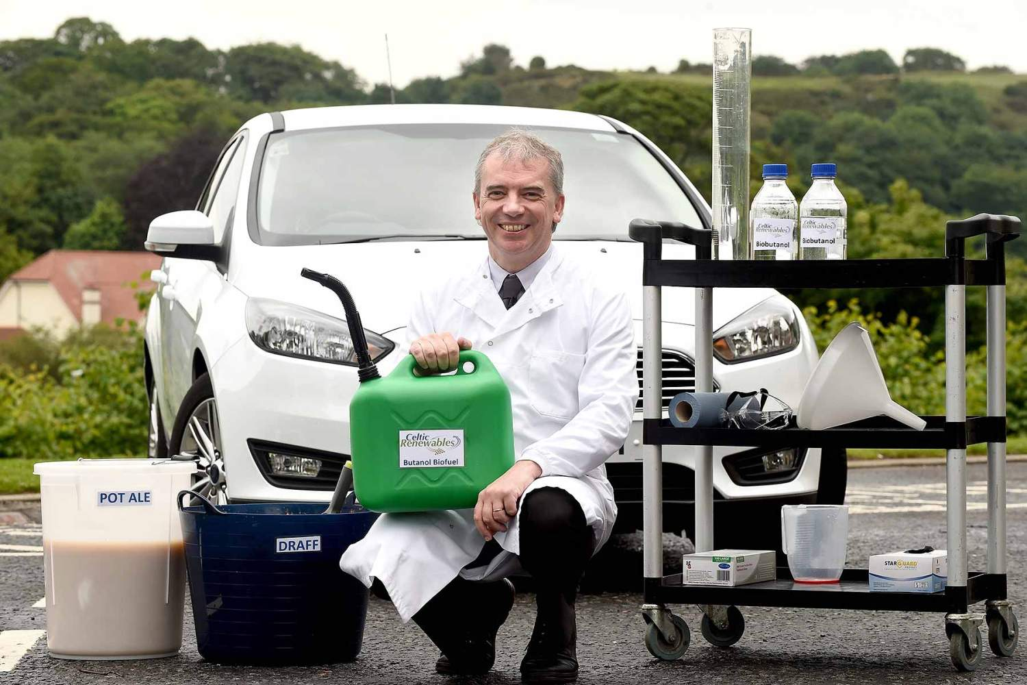 Whisky residue biofuel car