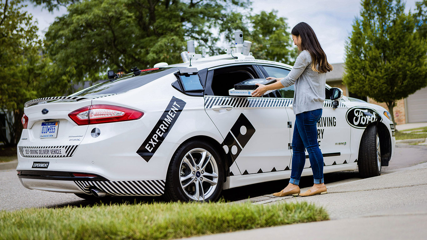 Ford is trialling driverless pizza delivery... but there's a catch