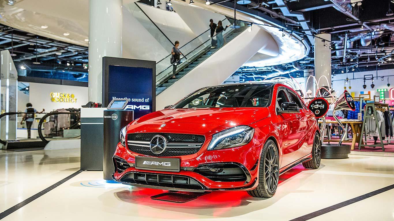 Mercedes Benz Opens Pop Up Car Dealer In Selfridges Birmingham