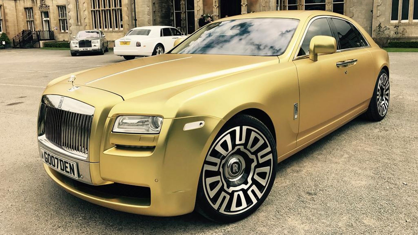 You can buy this gold Rolls-Royce for just 14 Bitcoin
