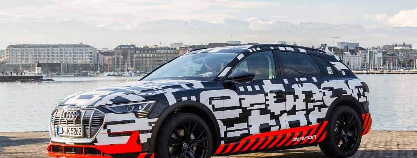 The new 2018 Audi E-Tron EV SUV