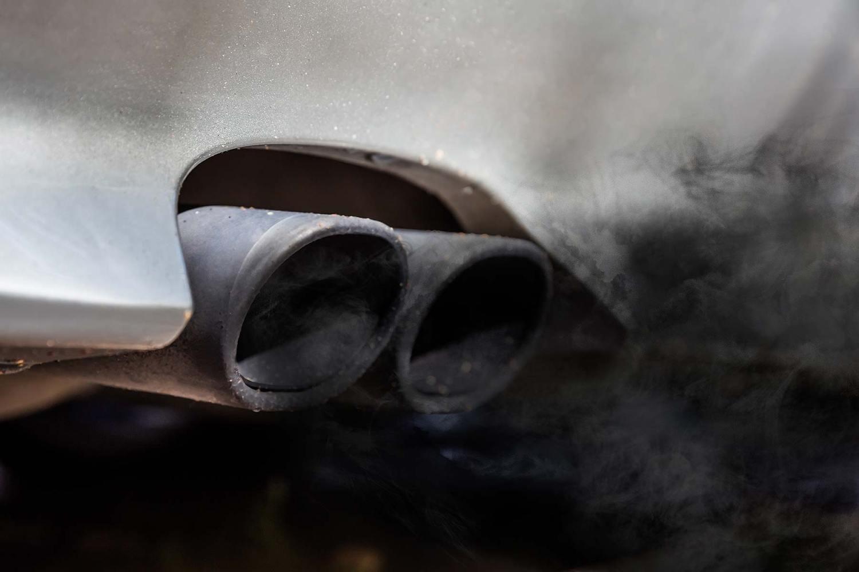 Dirty diesel tailpipe