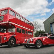 Morgan is restoring an old bus to celebrate 50 years of the Plus 8