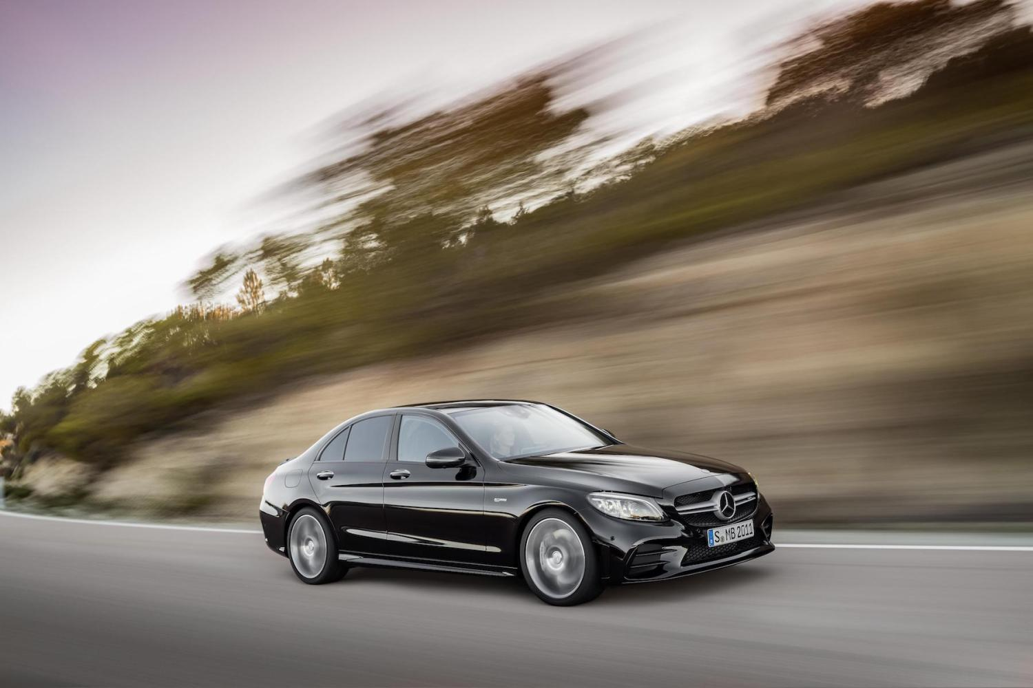 Facelifted 2018 Mercedes Benz C Class