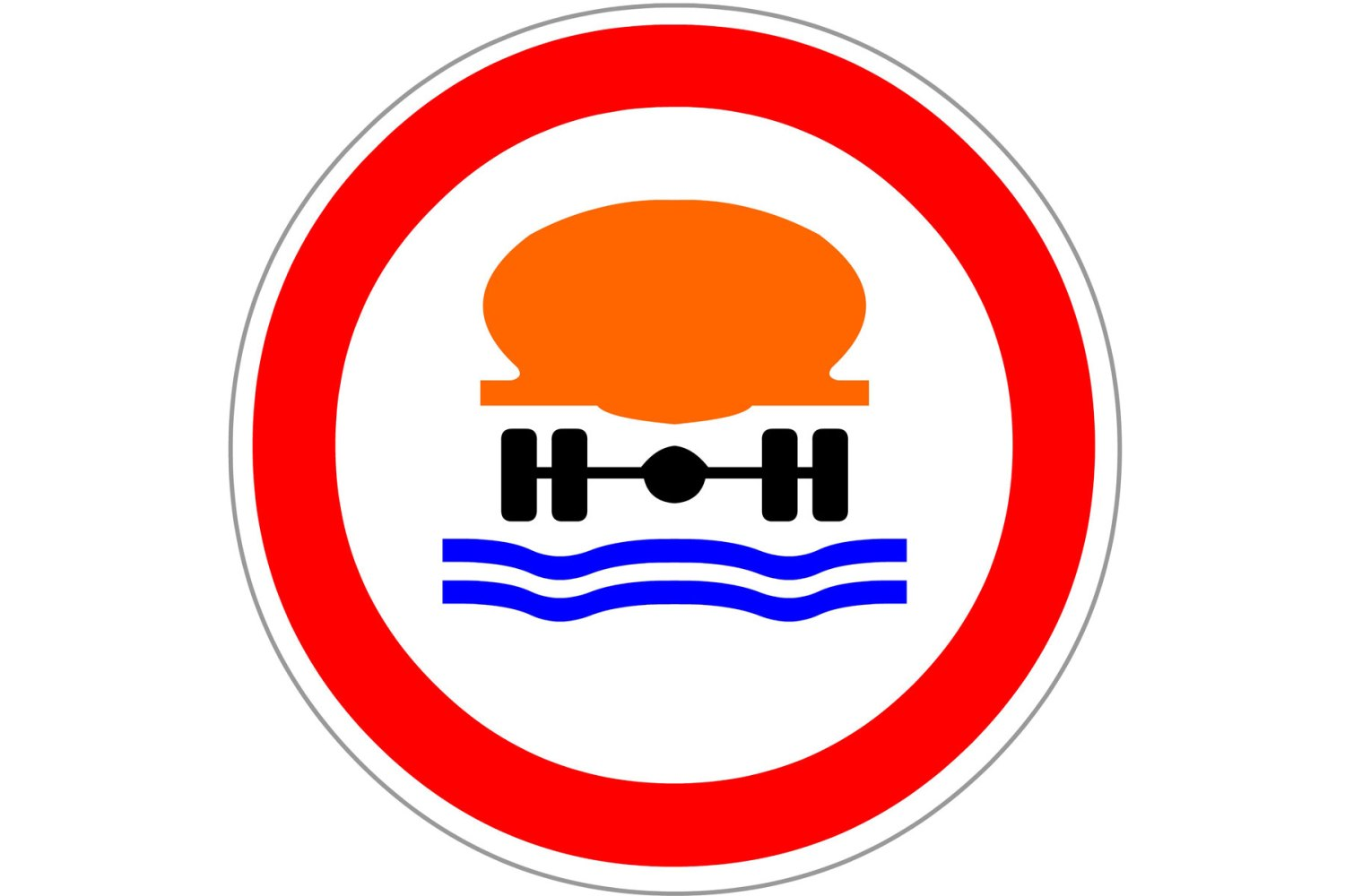 No vehicles carrying water pollutants
