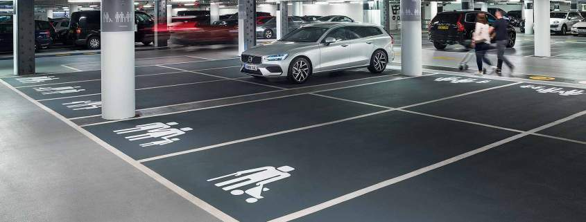 Volvo Westfield modern family parking icons