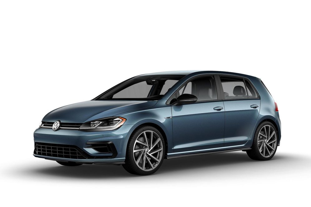 2019 VW Golf R Azure Blue Pearl