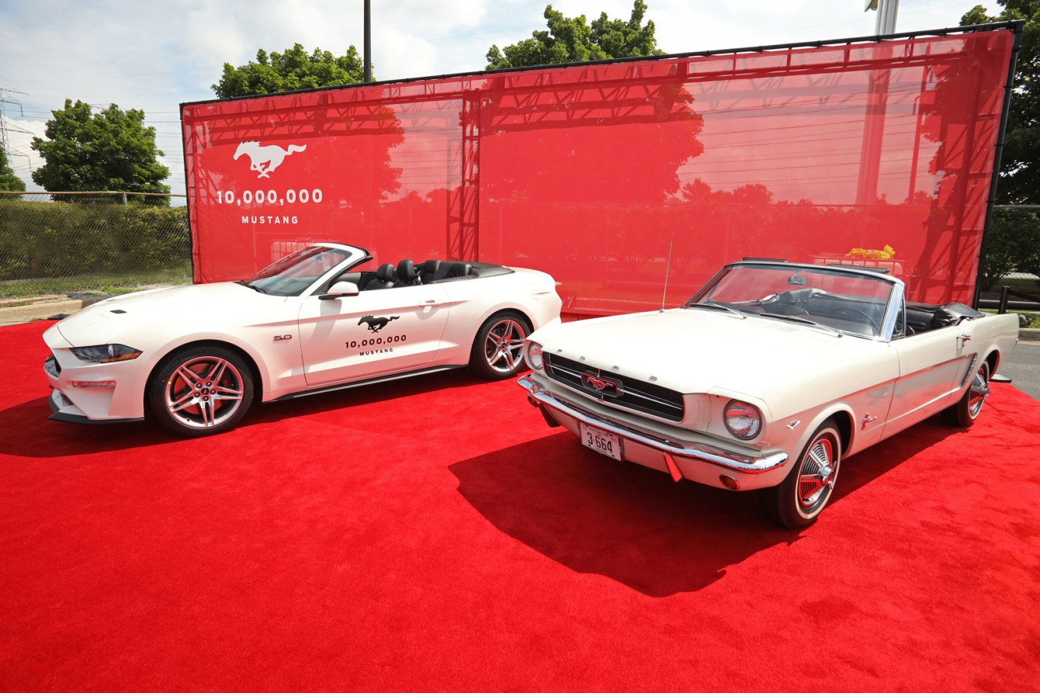 First meets 10 millionth Mustang