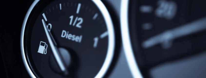 BMW diesel car fuel gauge reading empty