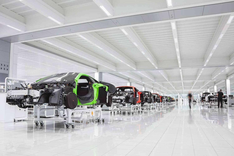 McLaren Technology Centre production line