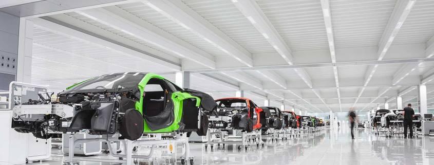McLaren Production Centre production line