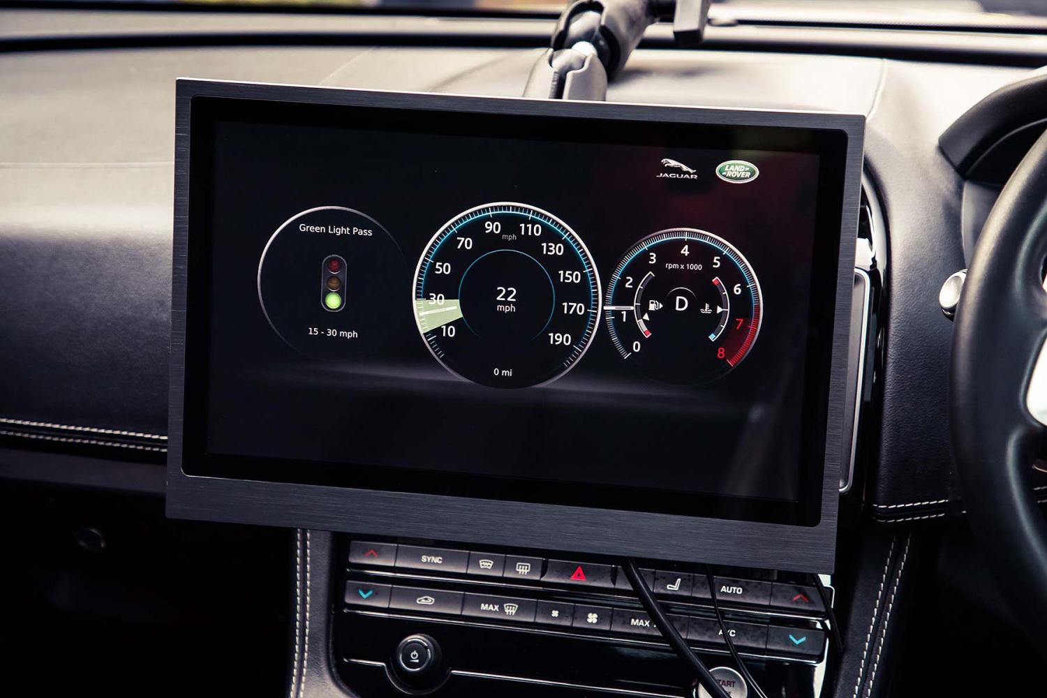 JLR future tech will advise the best speed to avoid red traffic lights
