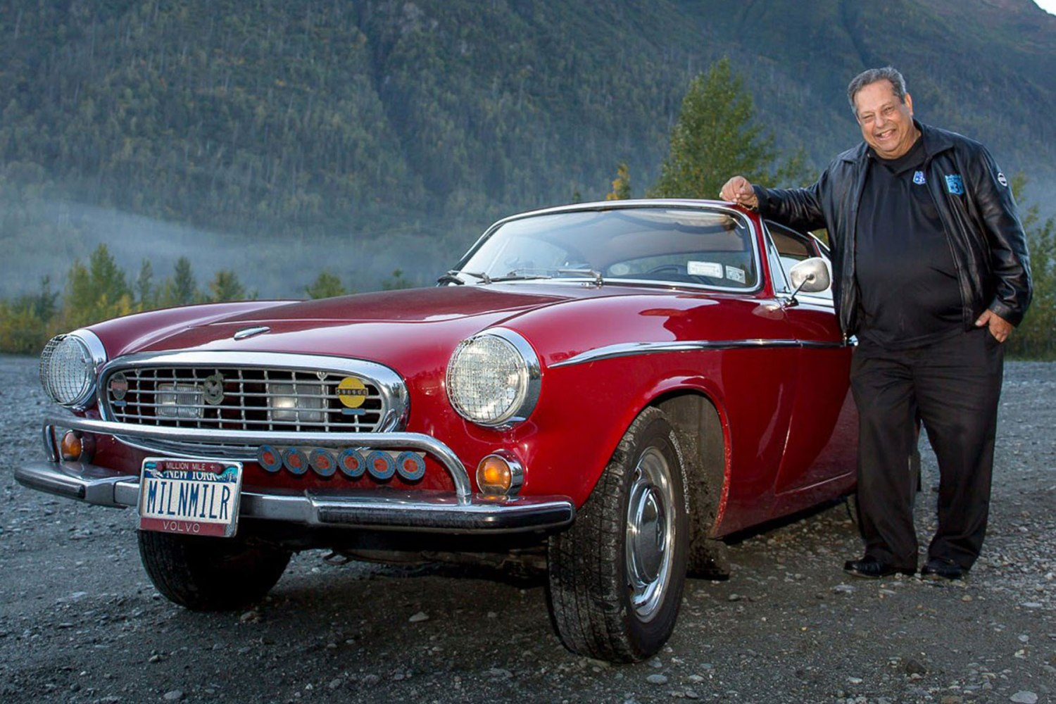 The late Irv Gordon with his Volvo