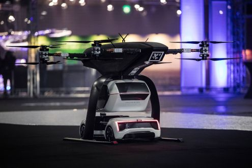 Audi Airbus flying taxi demonstrated