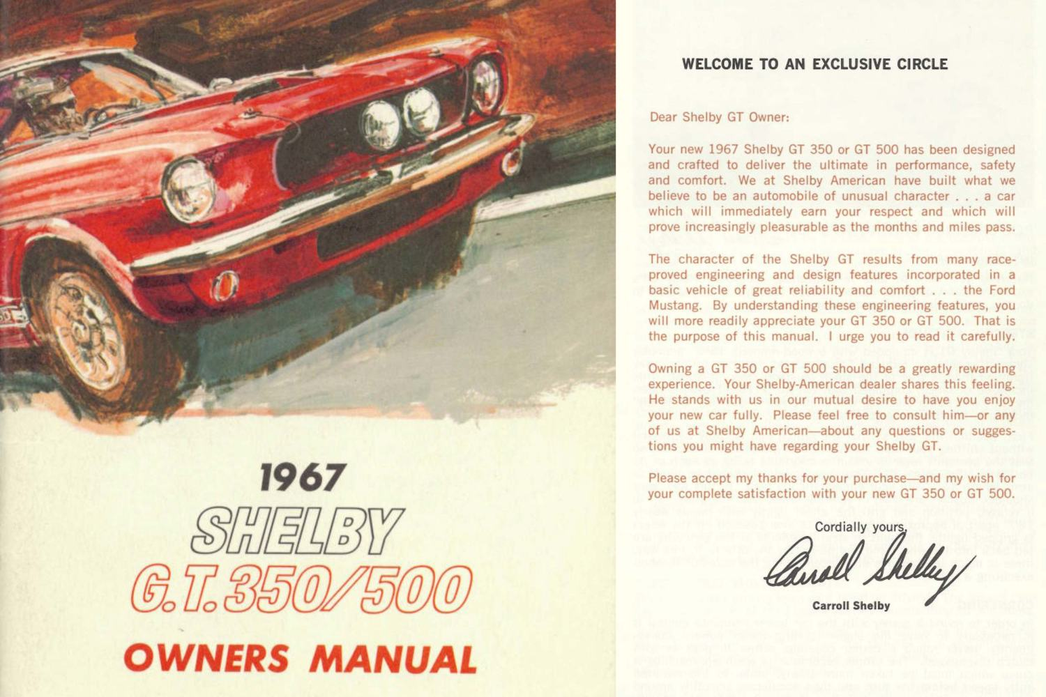 1967 Shelby owners guide
