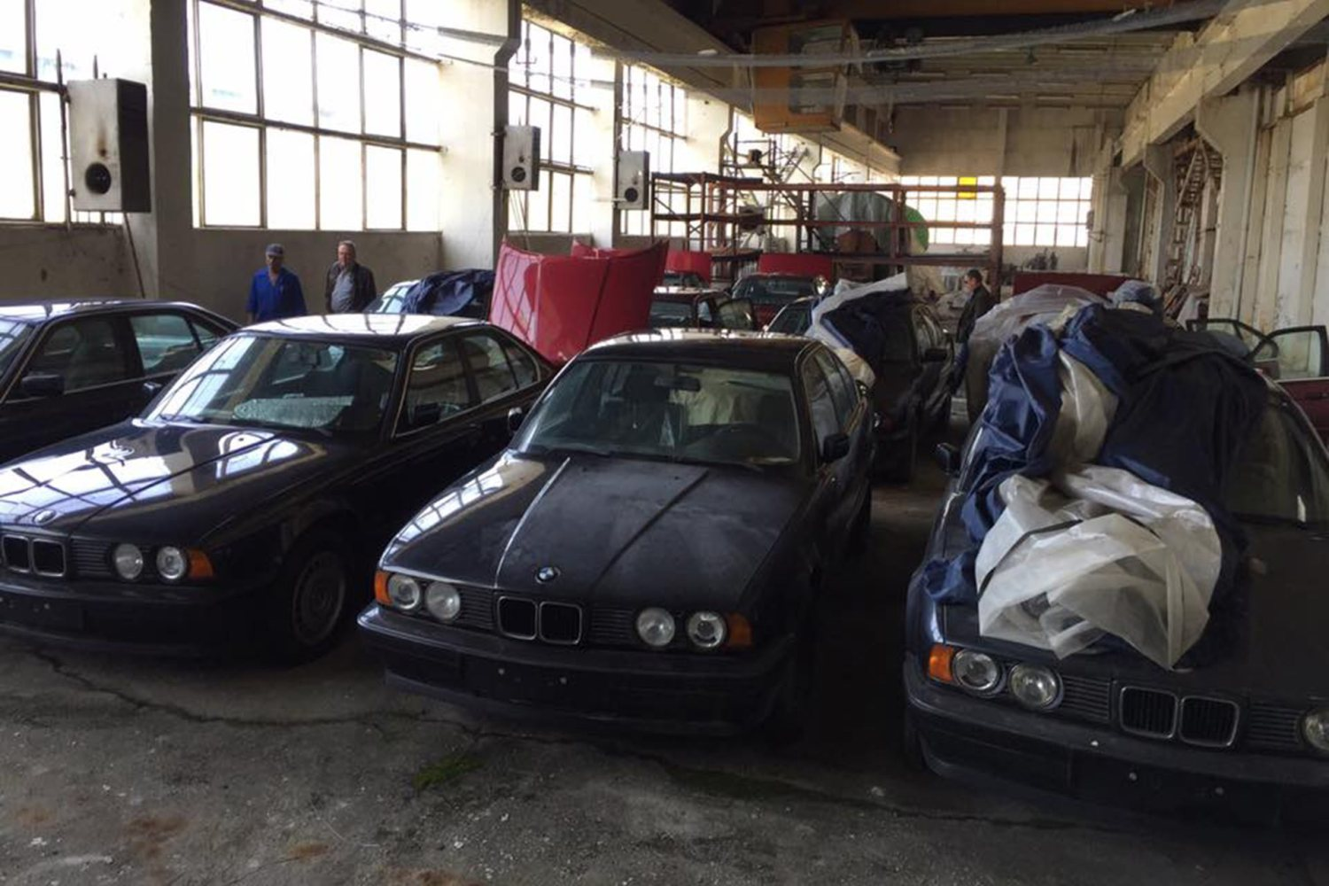Abandoned zero mileage BMWs found in Bulgarian warehouse
