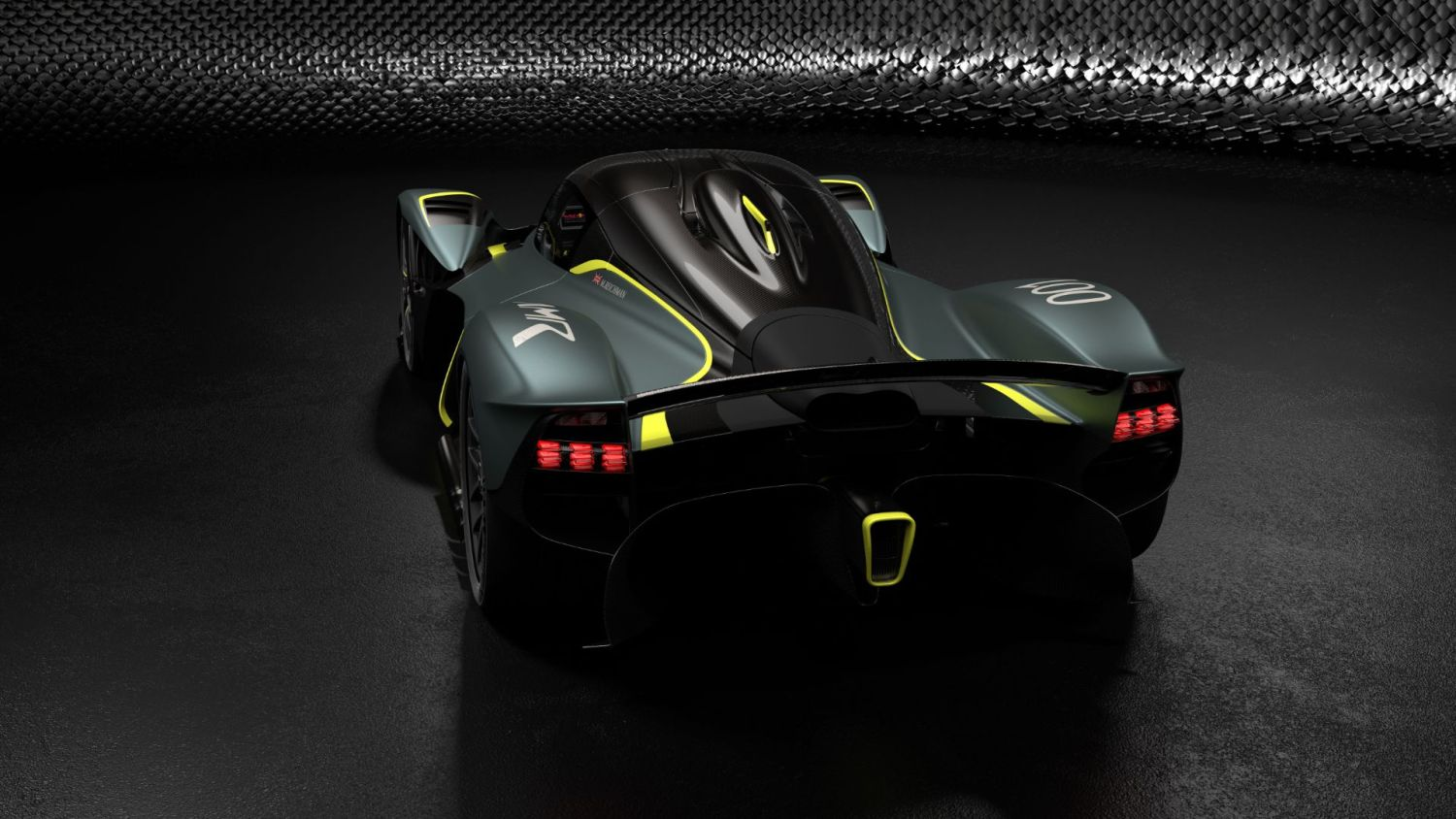 Aston Martin Valkyrie with AMR Track Performance Pack - Stirling Green and Lime livery