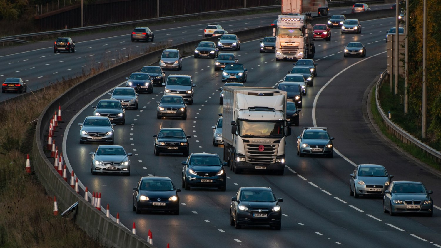 Commuters on the M25