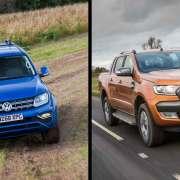 Volkswagen Amarok and Ford Ranger pickup trucks