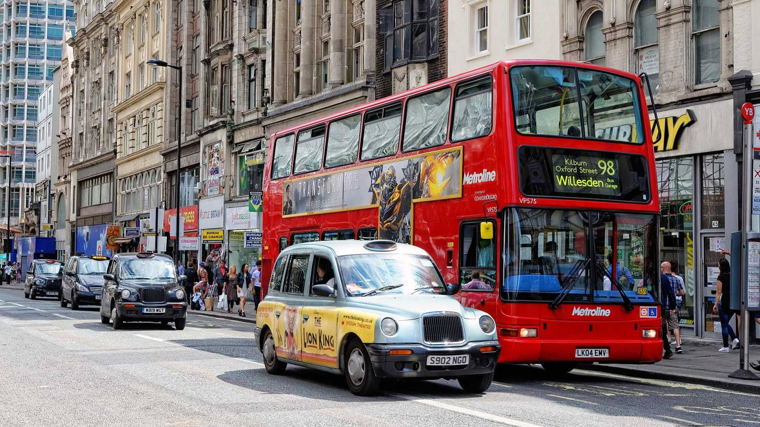 Tottenham Court Road buses and taxis