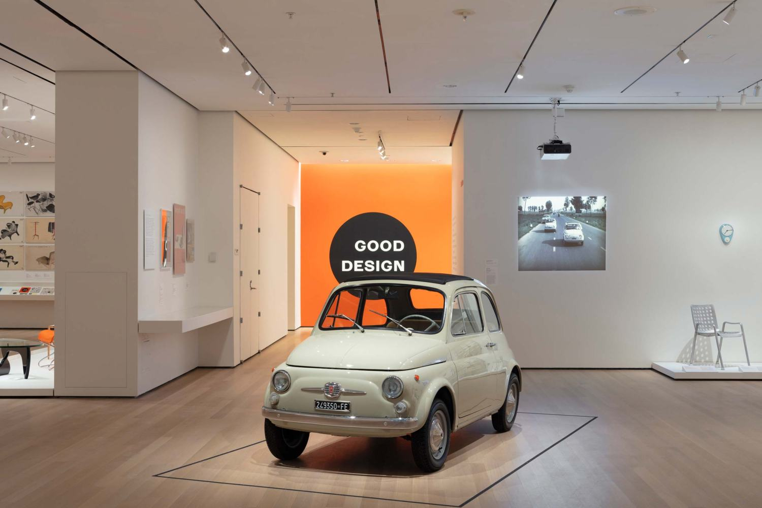 Fiat 500 display at MoMa