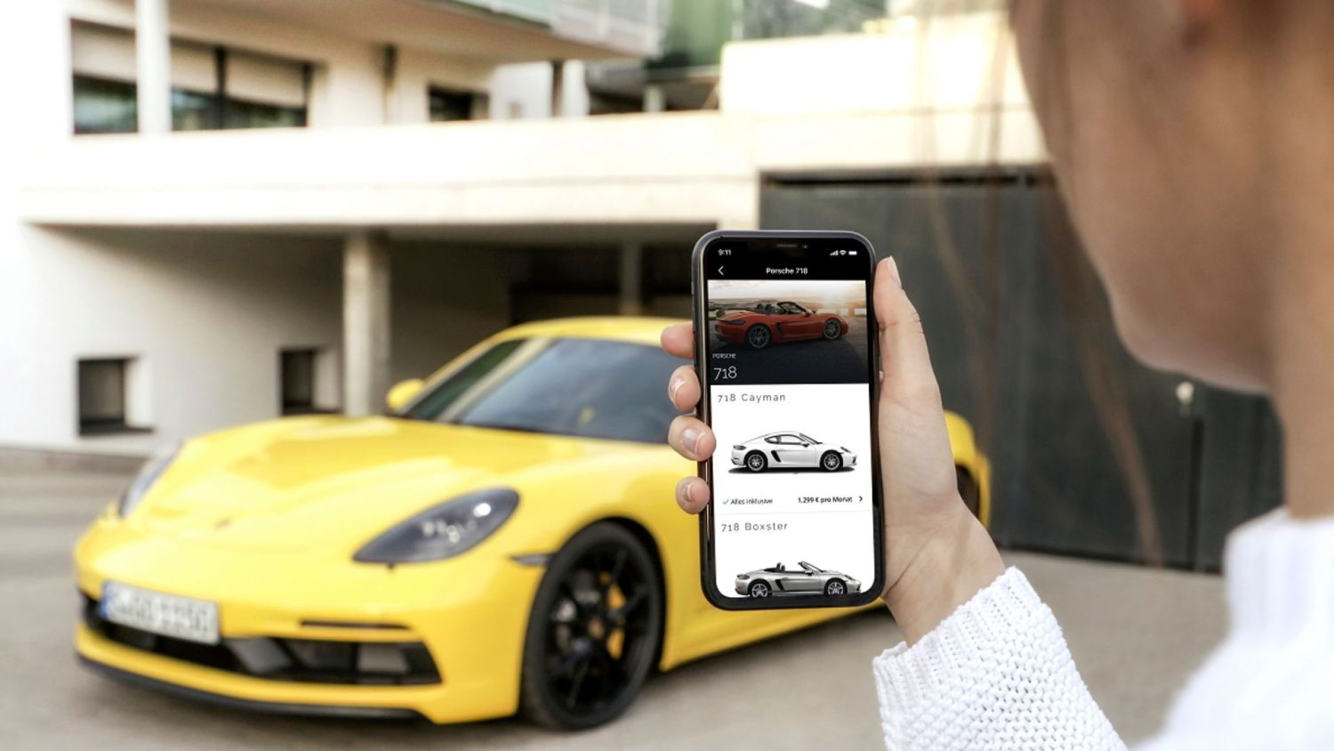 Buy a Porsche via an app