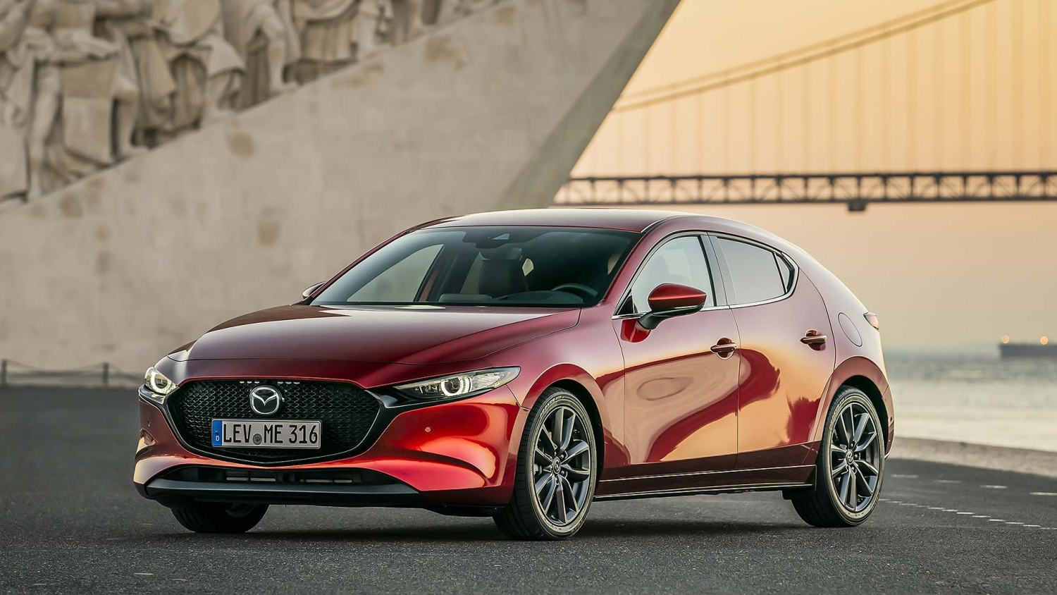 Mazda3 hatchback in Soul Red