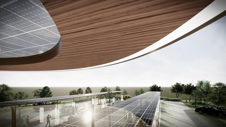 Electric Forecourt balcony