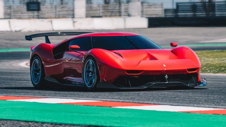 Ferrari P80C on track