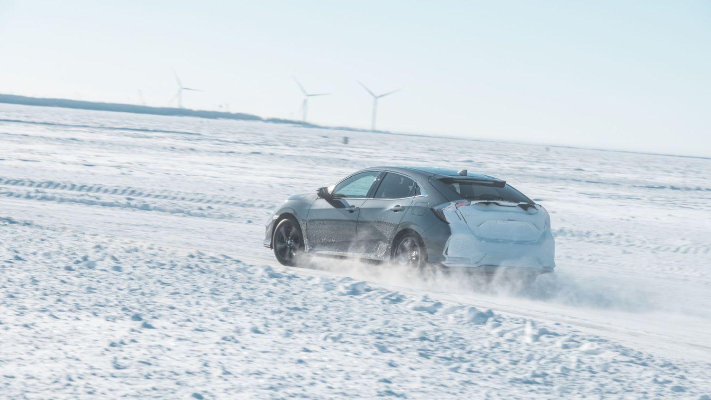 Honda Civic ice driving