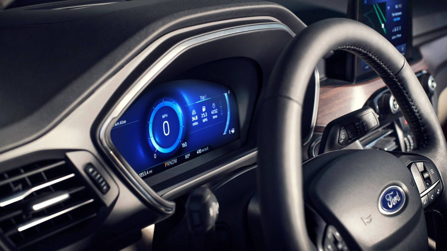 New Ford Escape instrument cluster