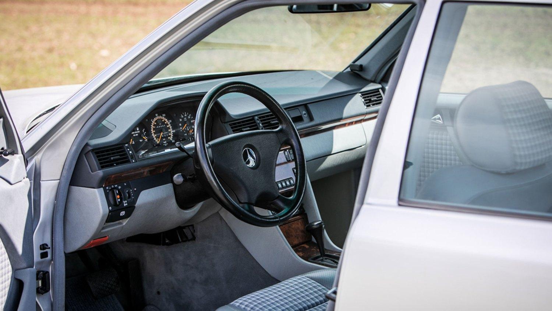 Rowan Atkinson Mercedes 500E interior
