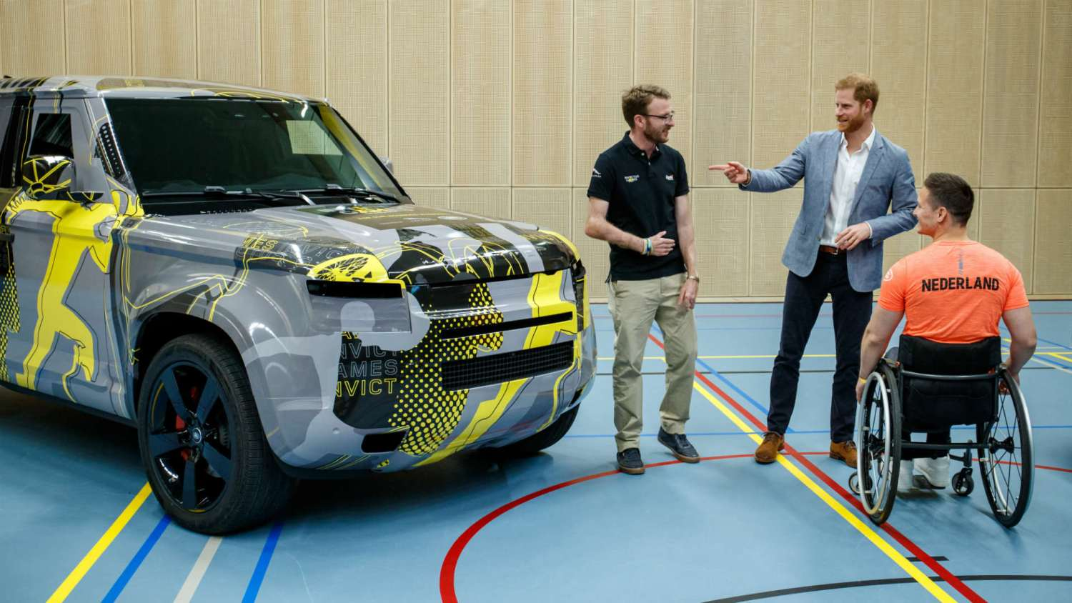 Prince Harry Land Rover Defender