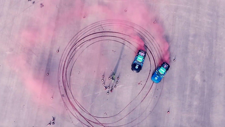 Largest car tyre burnout image