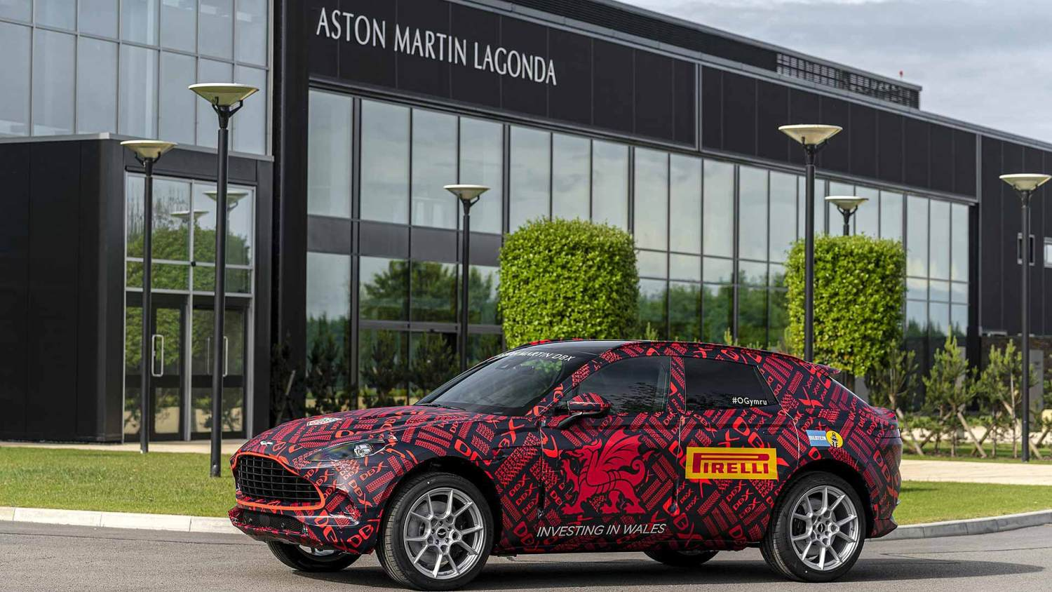 New Aston Martin DBX at new St Athan factory in Wales