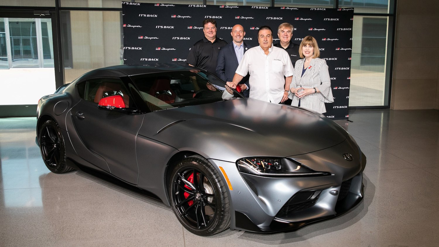 Auction winner collects first 2020 Toyota Supra